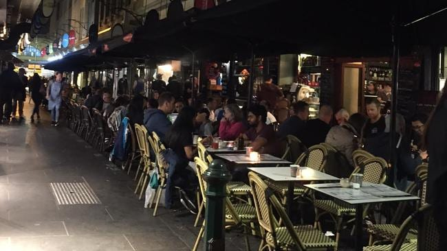 Laneway after laneway: it's a bar, restaurant and cafe feast, seven days a week.