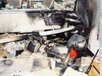New crime-scene images from the NCA bombing.