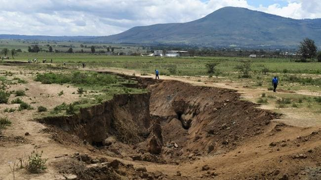The cracks are growing every day. Picture: AFP/ Simon Maina