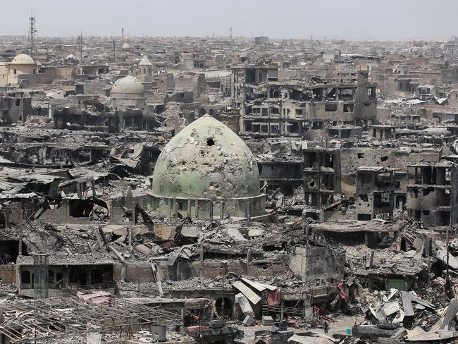 Mosul lies in ruins following occupation by the Islamic state. Picture: AFP PHOTO / AHMAD AL-RUBAYE