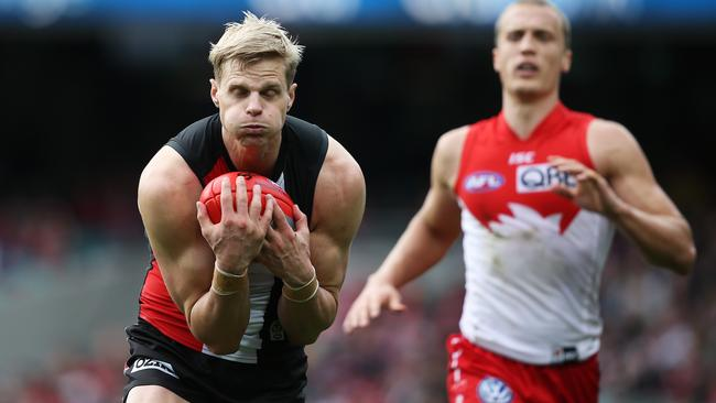 Can Nick Riewoldt win another St Kilda Best and Fairest? Picture: Phil Hillyard
