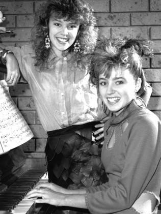 Early team Minogue meeting, 1986.
