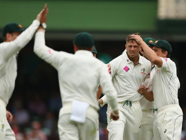 James Pattinson got the breakthrough for Australia after lunch.