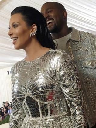 Kim Kardashian and Kanye West at last year's MET Gala. Picture: Instagram
