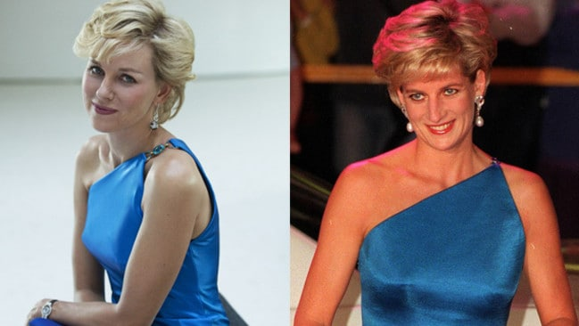 Naomi Watts does her best Princess Diana impersonation.