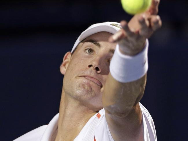 That look of concentration on John Isner's face.