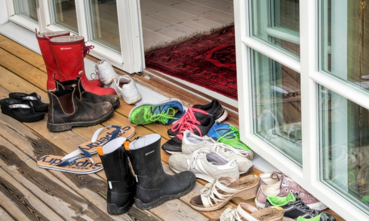 Do you take your shoes off at the front door?