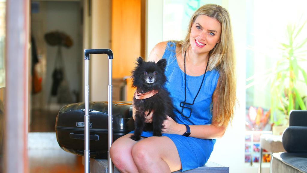 """Emily Heysen has used the service for her """"fusspot"""" dog Nike. Picture: Phil Rogers."""