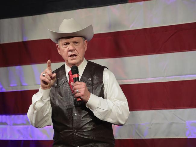 Republican candidate for the U.S. Senate in Alabama, Roy Moore faces sexual harassment allegations by several women. Picture: AFP