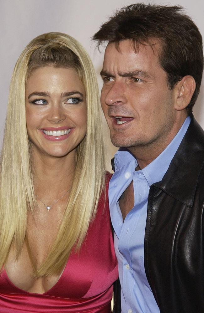 Past romance ... Charlie Sheen with his then-wife Denise Richards in 2003. Picture: Vince Bucci/Getty Images