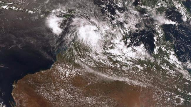 Cyclone Blanche passed Darwin on Sunday and is tracking towards the Kimberley region. PICTURE: Supplied