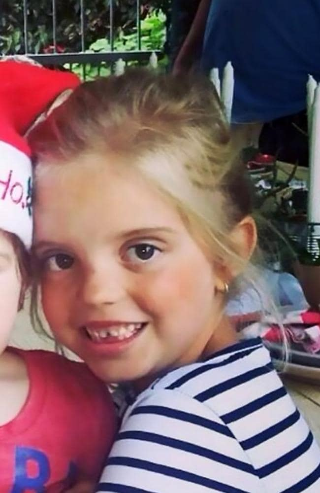 Little Mikayla-Sue Grove woke complaining of a toothache at home on a farm near the town of Ballito in eastern South Africa's KwaZulu-Natal province. Picture: CEN/Australscope
