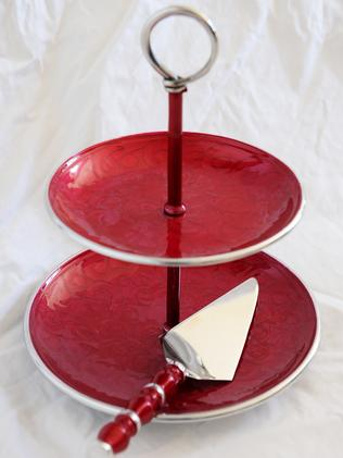 "Cake Stand: ""It's made from recycled Coke cans and I got it from Berwick Street Markets in London. It's a fair trade product and made in India."""