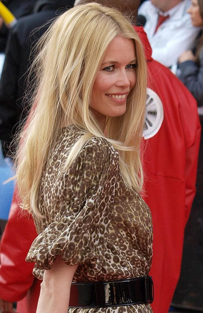 Former German super model Claudia Schiffer