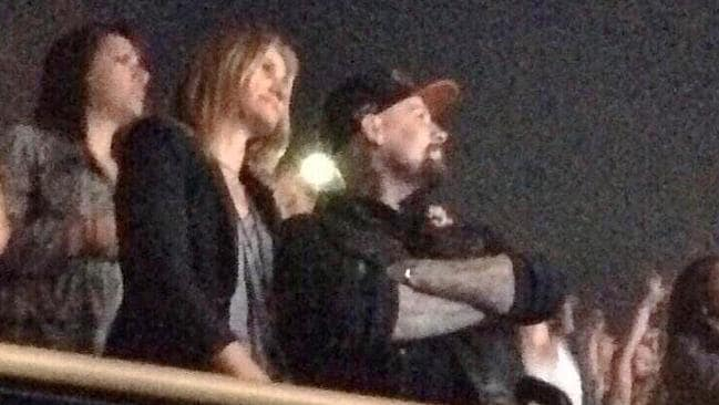 Date night ... Cameron Diaz and Benji Madden spotted in the crowd at the weekend's 5 Seconds of Summer concert in Los Angeles.