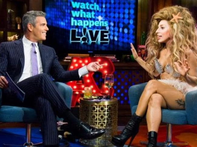 Lady Gaga on Andy Cohen's show Watch What Happens Live.
