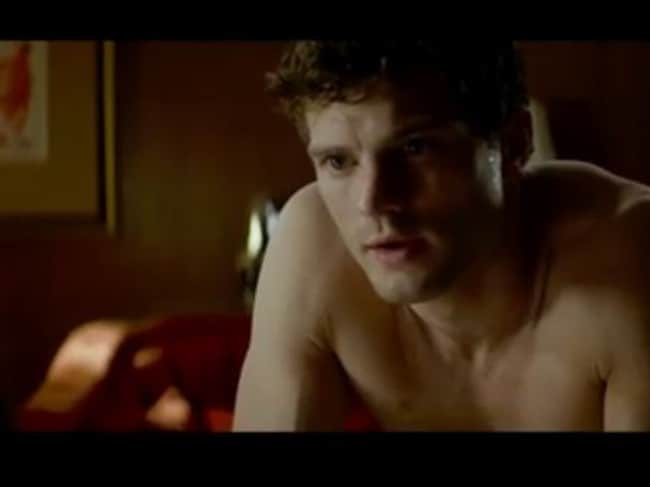Convincing...Dornan as the sedutive Mr Gery in a shot from the new trailer. Picture: Supplied