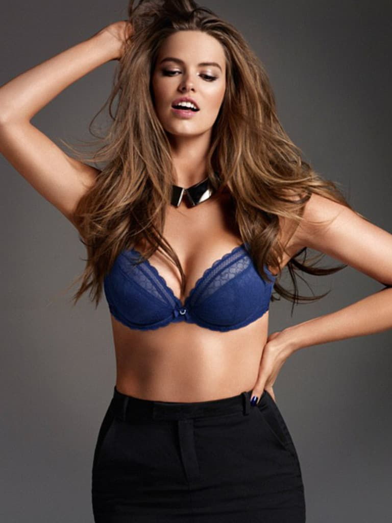 Australian plus-size model Robyn Lawley is pictured as she appears in a photoshoot for Chantelle Lingerie Picture: Chantelle Lingerie
