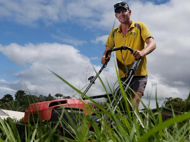 Mowing the lawn takes ages. Time you could spend with your family, or earning your own money. Picture: Stewart McLean
