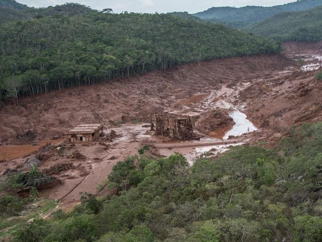 The whole village of Bento Rodrigues was wiped out in minutes. Picture: Christophe Simon/AFP