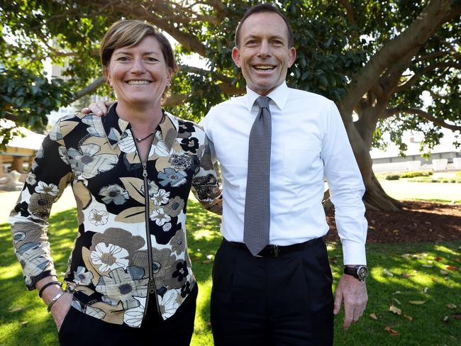Tony Abbott pictured with his sister Christine Forster.