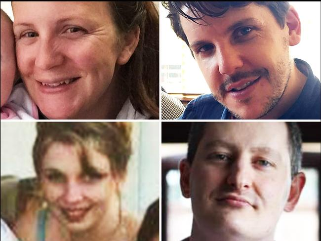 Dreamworld victims Kate Goodchild, Luke Dorsett, Roozi Araghi and Cindy Low.