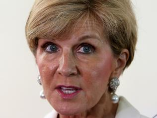 Julie Bishop Presser