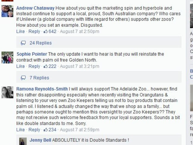 The move to dump a local supplier fired up locals on Facebook.