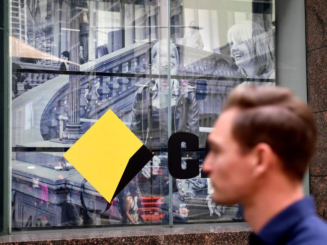 Commonwealth Bank sign in Sydney. Picture: AAP/Brendan Esposito