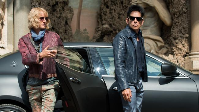 Owen Wilson plays Hansel and Ben Stiller plays Derek Zoolander in Zoolander 2.