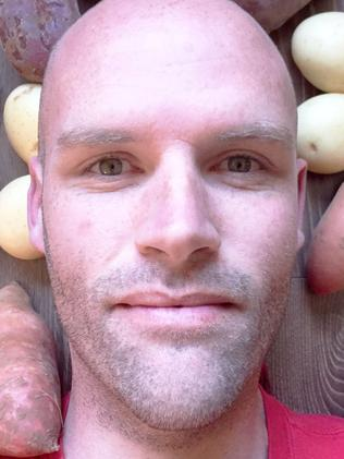 Andrew Taylor after his year on potatoes. Picture: Facebook