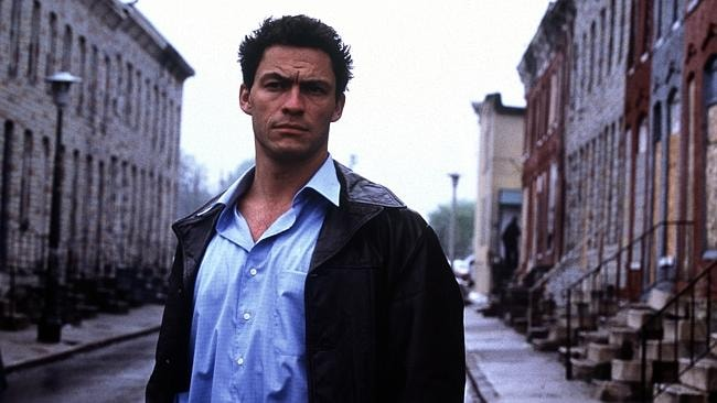Dominic West in a scene from The Wire.