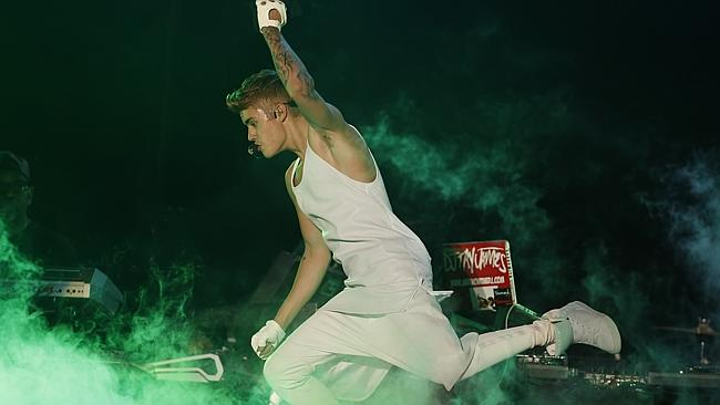 The now-retired Justin Bieber performs in concert in Paraguay. Picture: Supplied