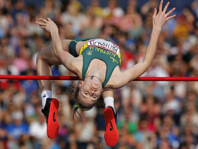 Eleanor Patterson of Australia jumps during the women's high jump final.