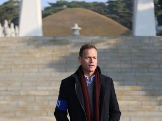 Tom Steinfort in North Korea for 60 Minutes. Supplied by Channel 9