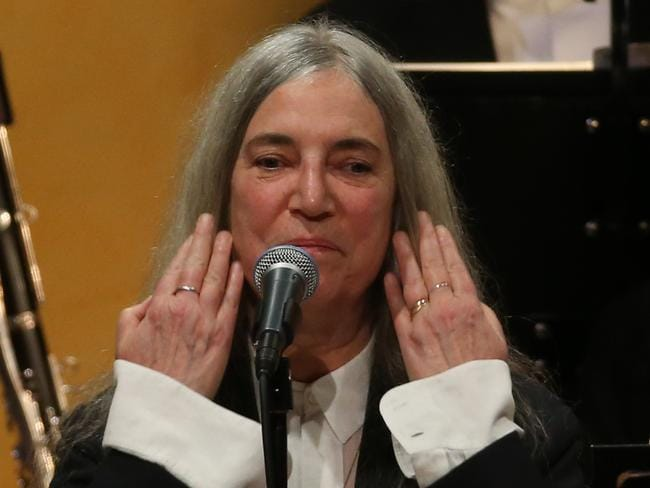 Smith performing to honour Bob Dylan at the Nobel prize ceremony. Picture: AFP / Soren Andersson