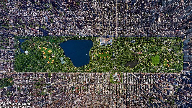 Amazing panoramas: Central Park, New York City. Picture: AirPano.com