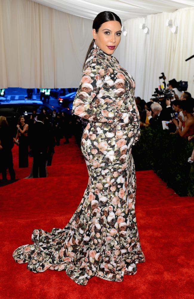 Her floral Givency dress prompted a string of memes. Picture: Larry Busacca/Getty Images