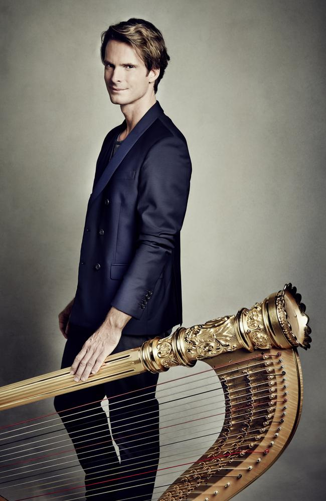 The Australian Brandenburg Orchestra presents French classical artists, harpist Xavier de Maistre, in The Harpist, at QPAC in Brisbane on Tuesday.