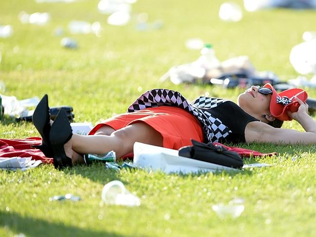 And took a moment to collect your thoughts in the Melbourne sun. Picture: AAP