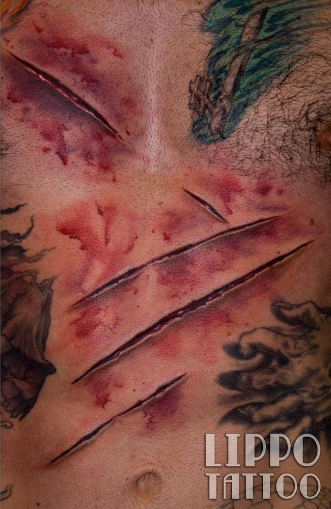 Nothing but a mere scratch. Picture: Lippo Tattoo