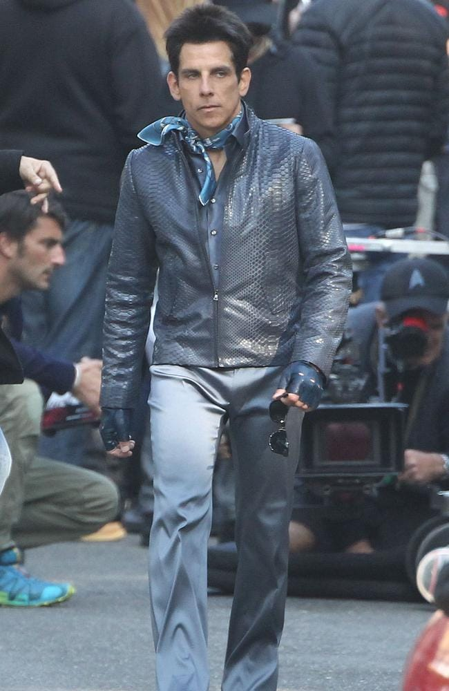 Ben Stiller on the movie set of Zoolander 2 in Rome.