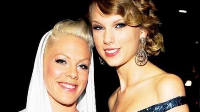 Pink and Taylor Swift have known each other for years. Picture: Instagram
