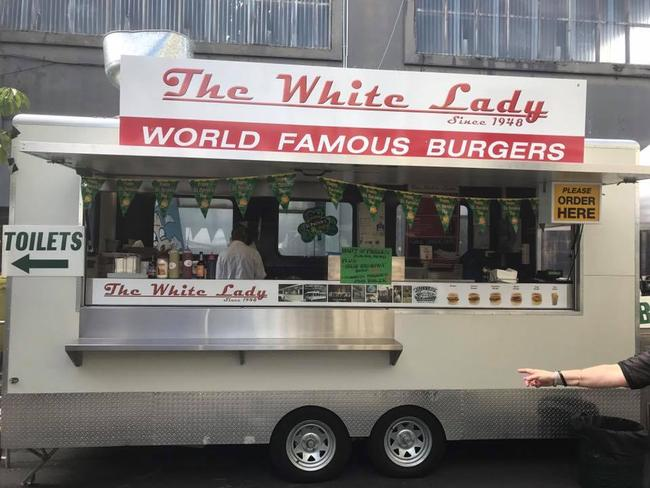 The White Lady food truck in Auckland. Picture: Facebook / @thewhitelady