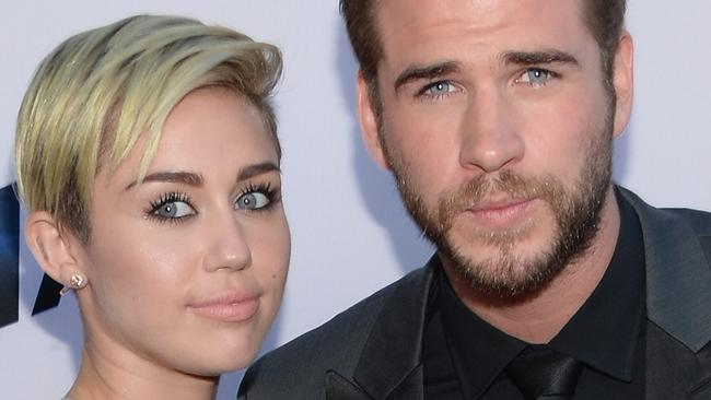Miley Cyrus and Liam Hemsworth in 2013. Picture: Jason Kempin/Getty Images