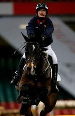 Seen here in the celebrity show jumping event during the Express Eventing International Cup at the Millennium Stadium on November 30, 2008. Picture: Stu Forster/Getty Images