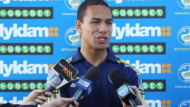 Will Hopoate speaks to the media today.