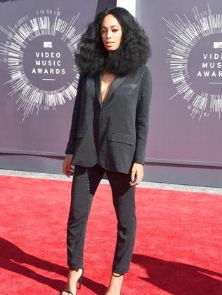 Beyonce's sister Solange Knowles attends the 2014 MTV Video Music Awards.