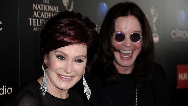 "Sharon Osbourne, left, says she won't divorce husband Ozzy Osbourne just because he suffered a recent drug and alcohol relapse, saying ""You just don't walk away from people because they have a problem."""