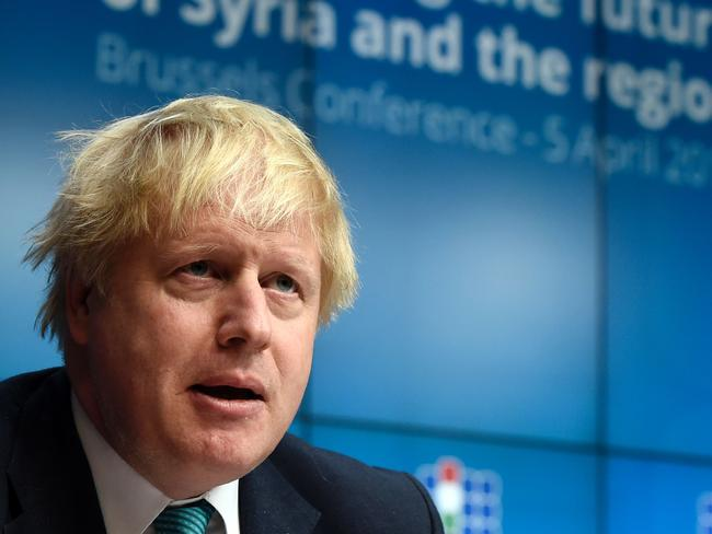 British Foreign Secretary Boris Johnson says Syrian people are paying the price of five years of inaction. Picture: AFP/John Thys